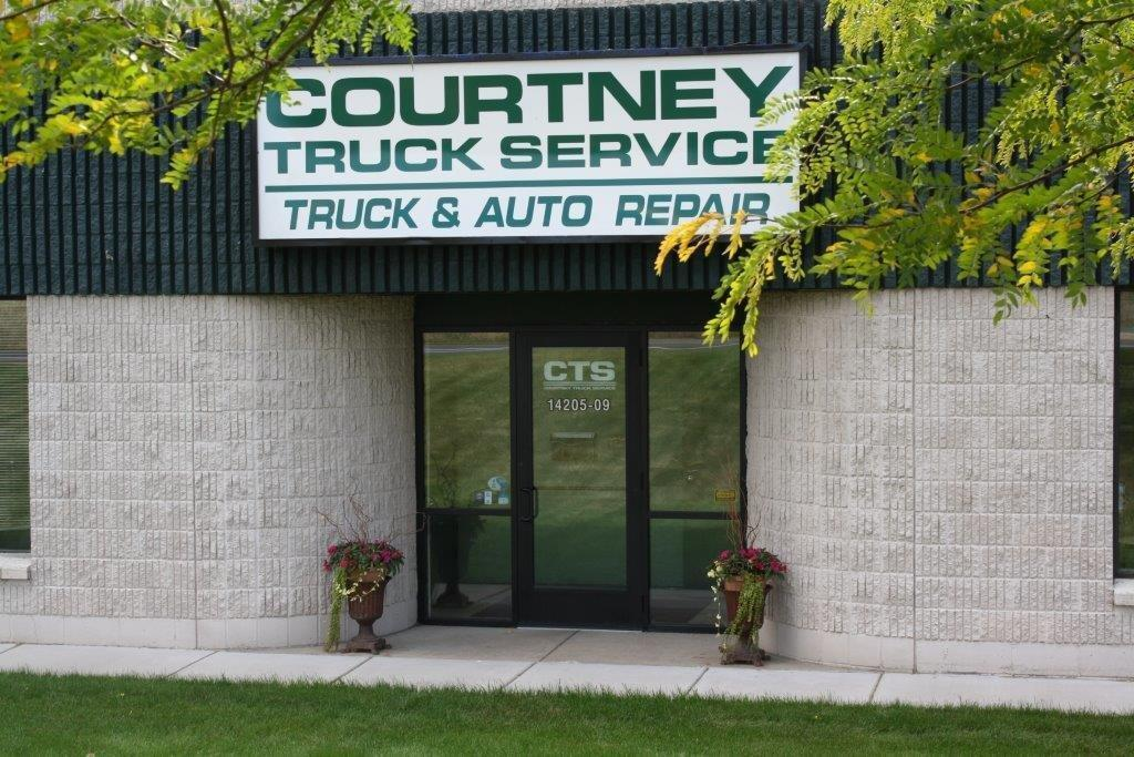 close view exterior of courtney truck service eden prairie mn